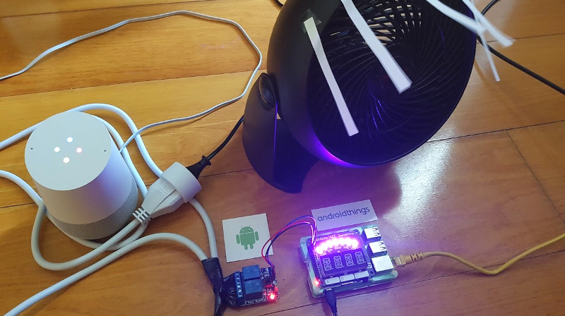 IoT - Home automation with Android Things and the Google Assistant